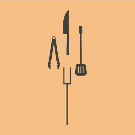 tongs: kitchen utensils Illustration