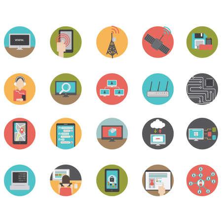 conjunto de iconos de la tecnología