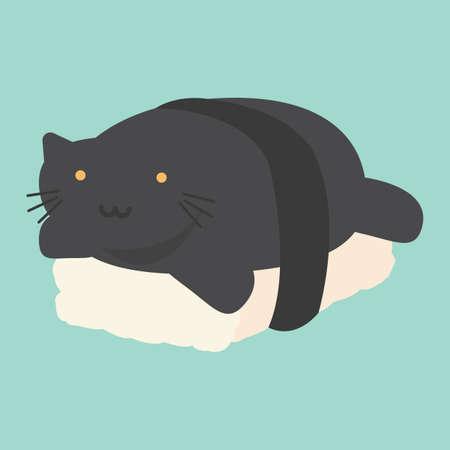 nori: cat and sushi