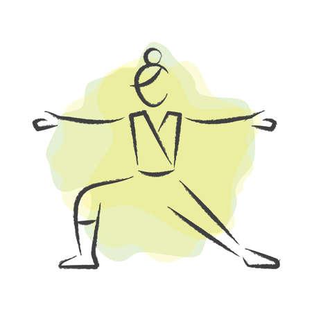 variation: woman practising yoga in standing pose variation
