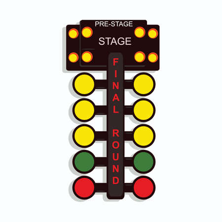 race start: race start lights Illustration