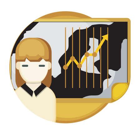 stock news: woman reading stock exchange news