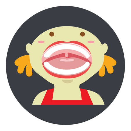 girl mouth: girl with mouth open