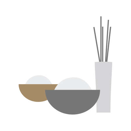 scented: facial bowl and incense sticks