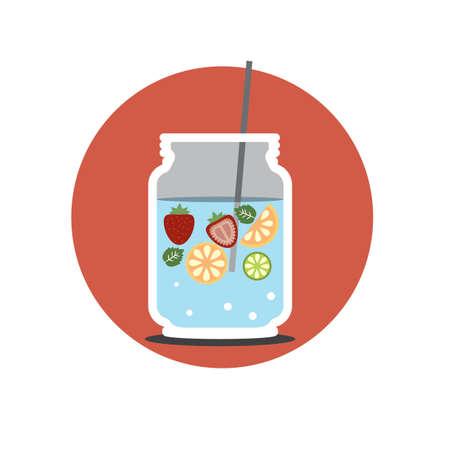 refreshing: refreshing drink Illustration