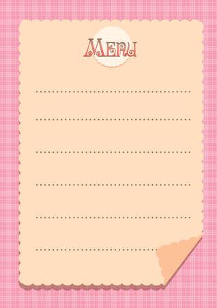 menu sheet background