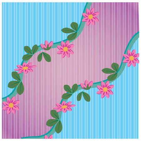 vertical lines: Fondo floral de l�neas verticales Vectores