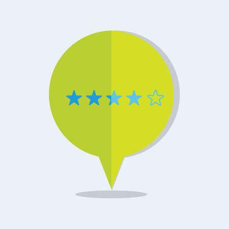 rating: rating stars pin bubble