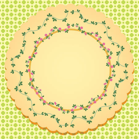 abstract flowers: abstract flowers circle background