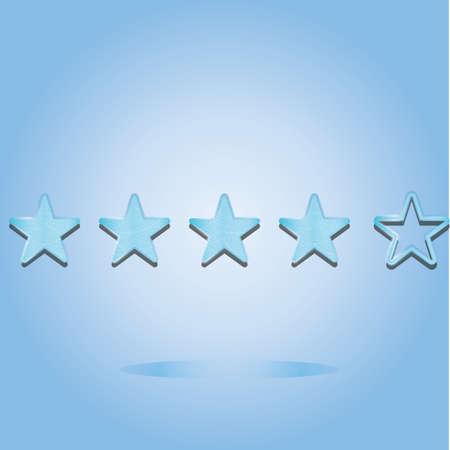 rating: rating stars icon Illustration