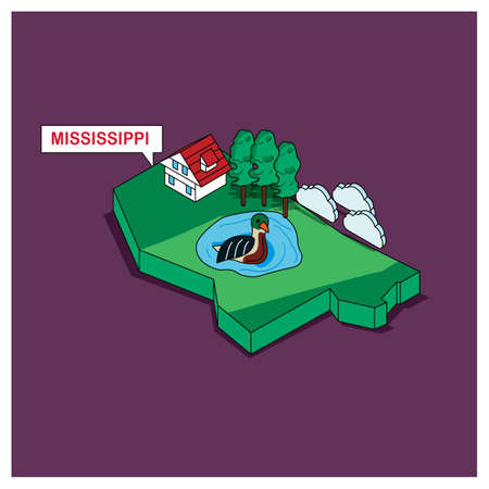 mississippi: mississippi state Illustration