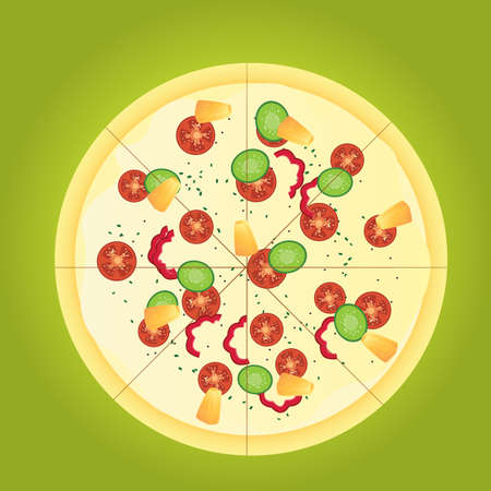 crust: pizza Illustration