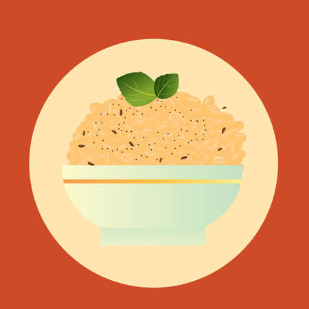sesame seeds: bowl of rice with black sesame seeds
