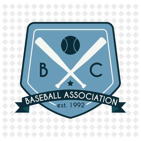 association: baseball association badge Illustration
