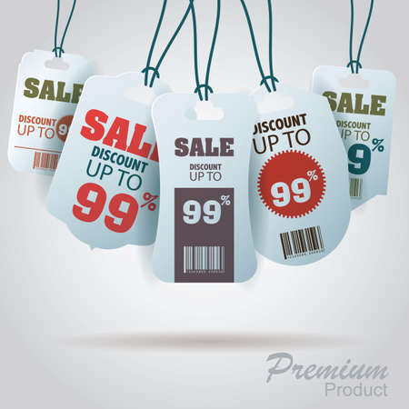 barcodes: premium product sale Illustration