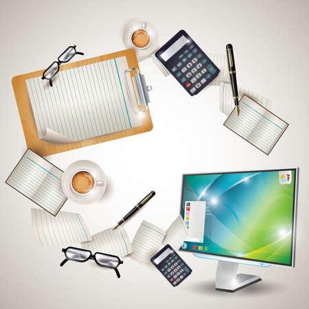 workspace: office workspace Illustration