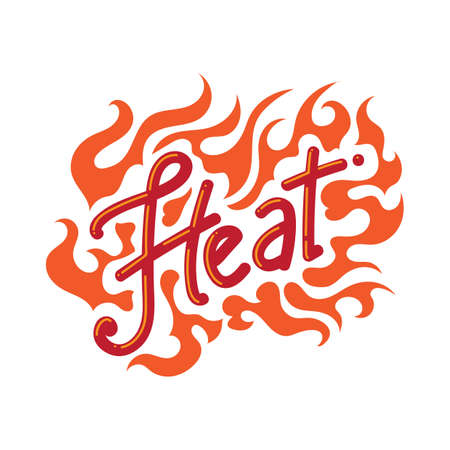 word: word heat Illustration