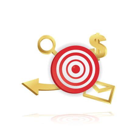 dartboard: marketing dartboard