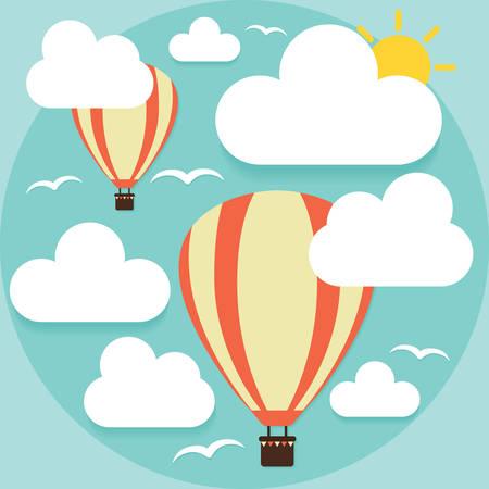 hot air balloons: hot air balloons in sky