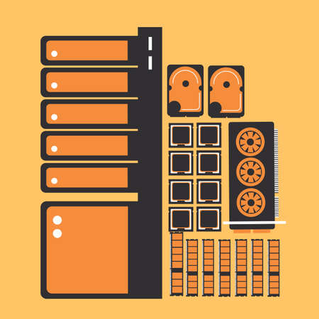 components: computer components Illustration