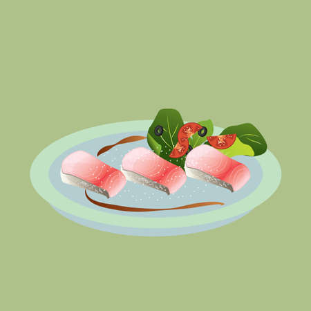 sashimi: fish sashimi Illustration