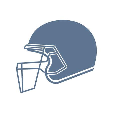 cricket helmet: cricket helmet Illustration