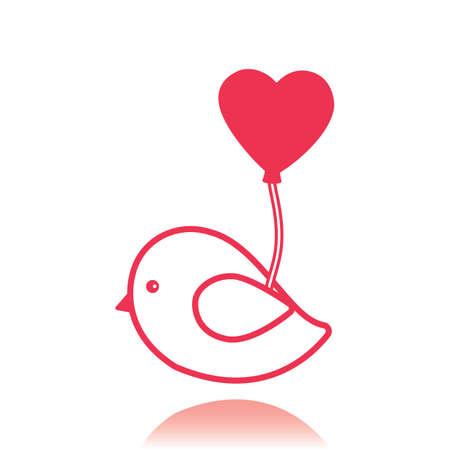 lovebird: love bird with balloon