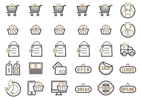 selling service: set of shopping icons