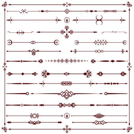 calligraphic design: calligraphic design elements Illustration