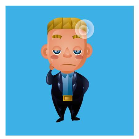 feeling exhausted: businessman feeling tired Illustration