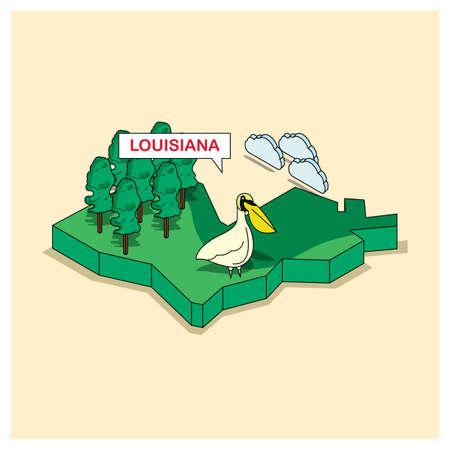 louisiana: louisiana state Illustration