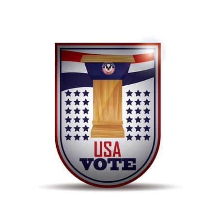 pennant: usa vote pennant Illustration