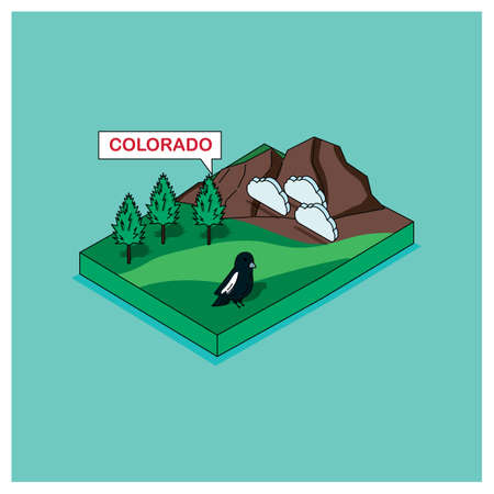 colorado mountains: colorado state Illustration