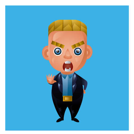 yelling: businessman yelling Illustration