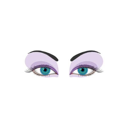 cornea: womans eyes