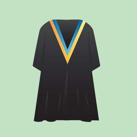 graduation gown: graduation gown