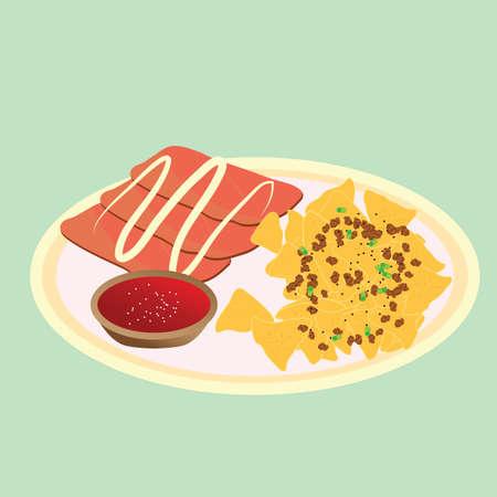 nachos: nachos with ham