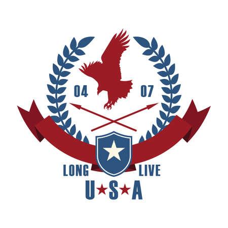 long live: eagle label Illustration