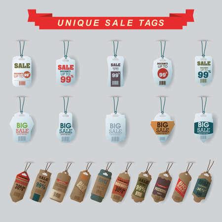 the unique: unique sale tags set