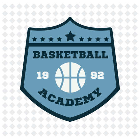 academy: basketball academy badge Illustration
