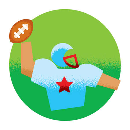 sports equipment: american football player Illustration