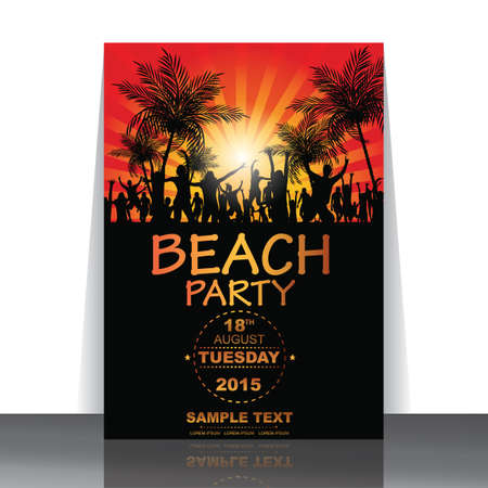 beach party: beach party flyer Illustration