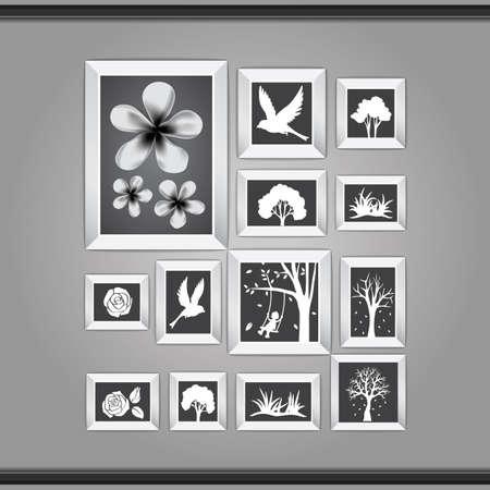 gilt: photos on a wall Illustration
