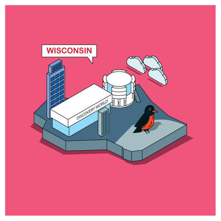 wisconsin state: wisconsin state Illustration
