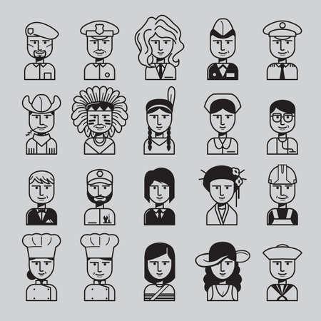 set of professional people Иллюстрация