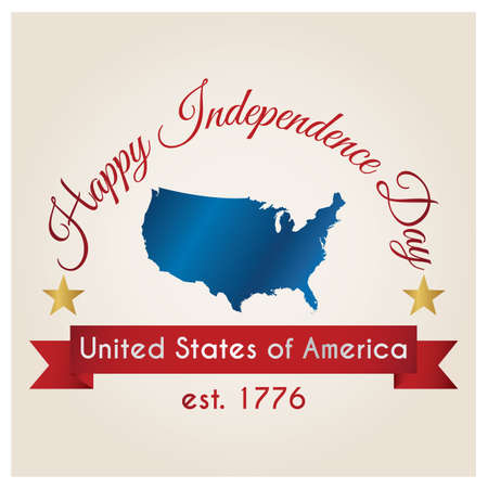 seventeen: independence day poster of usa Illustration
