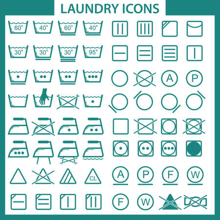 laundry care symbol: laundry icons Illustration
