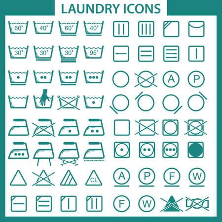 bleaching: laundry icons Illustration