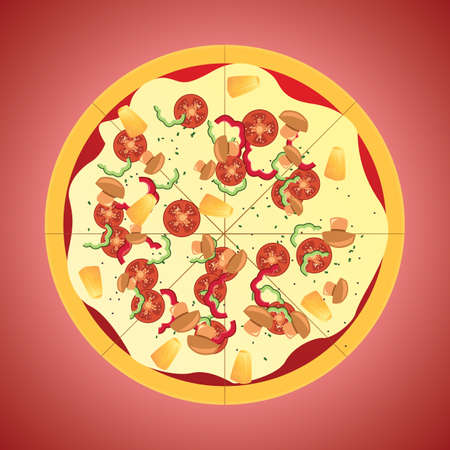 toppings: pizza Illustration