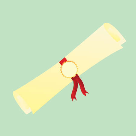scroll: graduation scroll Illustration